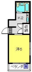 ストークハイツ岡崎2階Fの間取り画像