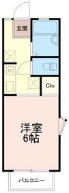 クローバーハイツエー(クローバーハイツA)2階Fの間取り画像