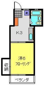 メゾンサイトウ2階Fの間取り画像