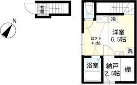 ライズ浜田山02階Fの間取り画像