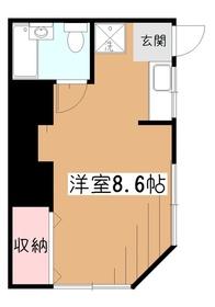 えびす荘1階Fの間取り画像