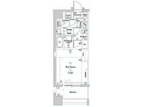 DIPS神楽坂2階Fの間取り画像