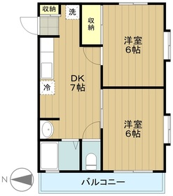 京王多摩川駅 徒歩25分2階Fの間取り画像