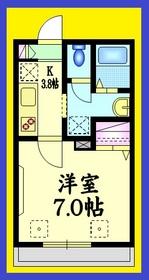 ビオス大泉2階Fの間取り画像