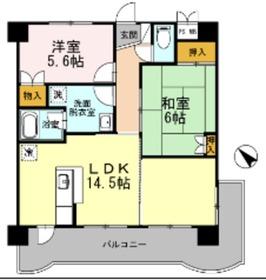 ルネス・カリヨン5階Fの間取り画像