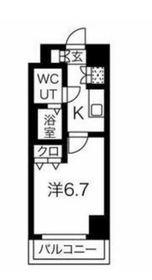 スパシエ横浜大通り公園6階Fの間取り画像