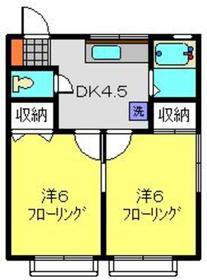 綱島駅 徒歩9分1階Fの間取り画像