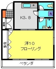 日吉本町駅 徒歩25分5階Fの間取り画像