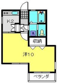 シルクカスタニア2階Fの間取り画像