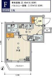 スカイコート練馬壱番館4階Fの間取り画像