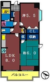 グラースマロニエ2階Fの間取り画像