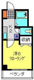 オークランドSK3階Fの間取り画像