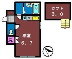 トレーフル1階Fの間取り画像