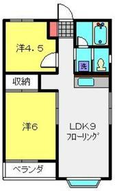 アメニティ高島台Ⅱ2階Fの間取り画像