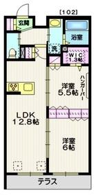 仙川駅 徒歩17分2階Fの間取り画像