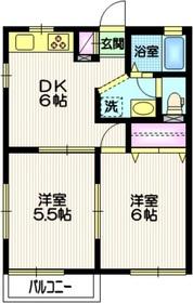 カーザ・ボンフィン2階Fの間取り画像