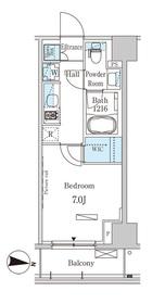 パークアクシス木場キャナル ウエスト7階Fの間取り画像