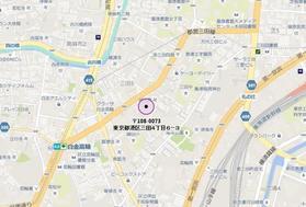 白金高輪駅 徒歩5分案内図