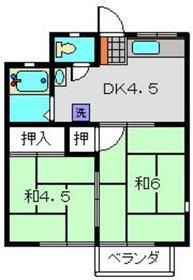 鹿島田駅 徒歩12分2階Fの間取り画像