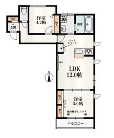 (仮称l)西東京市・下保谷メゾン2階Fの間取り画像