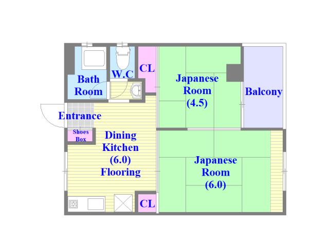 小阪ビル シンプルな住み心地を実感できる素敵な間取りになってます。