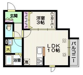 (仮称)川口市芝新町メゾン2階Fの間取り画像
