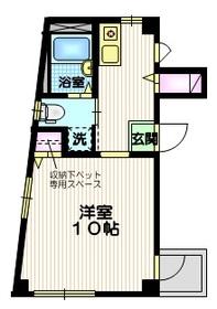 ピーズフィースト1階Fの間取り画像