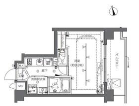ZOOM中野2階Fの間取り画像