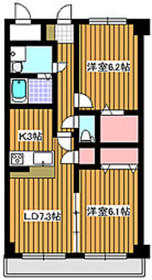 成増駅 徒歩8分2階Fの間取り画像