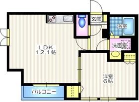 ヘーベルメゾンヴェール2階Fの間取り画像