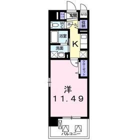 クラン モラ5階Fの間取り画像