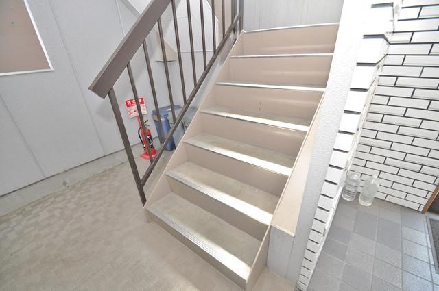 リーゾタナカ この階段を登った先にあなたの新生活が待っていますよ。