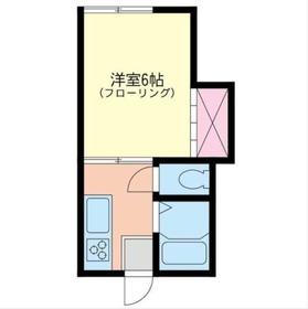 フジコーポ2階Fの間取り画像