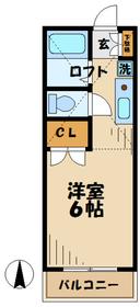 稲城駅 バス6分「坂浜」徒歩1分2階Fの間取り画像
