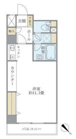 東建シティハイツ鶴見中央5階Fの間取り画像