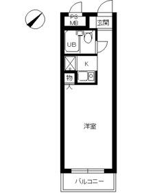スカイコート本郷東大前3階Fの間取り画像