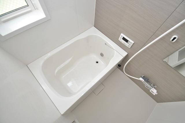 メゾン・ソレイユ長栄寺 ちょうどいいサイズのお風呂です。お掃除も楽にできますよ。