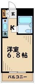トラスティ永山2階Fの間取り画像