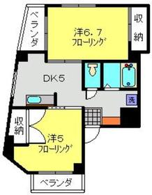 武蔵小杉駅 徒歩25分2階Fの間取り画像