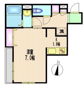 桜新町駅 徒歩4分2階Fの間取り画像