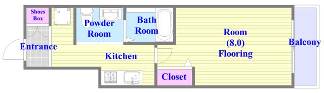 PIANO・FORTE バストイレがセパレート、独立洗面所のある使い易い間取りです。