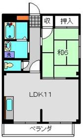 ディアコートイチロー1階Fの間取り画像