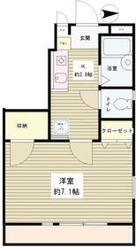 セブンハウス1階Fの間取り画像
