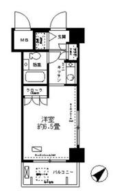 パーク・ノヴァ川崎7階Fの間取り画像