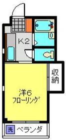 メゾンヨコヤマ2階Fの間取り画像