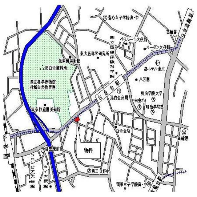 白金台駅 徒歩4分案内図