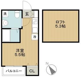 桜ヶ丘駅 徒歩17分2階Fの間取り画像