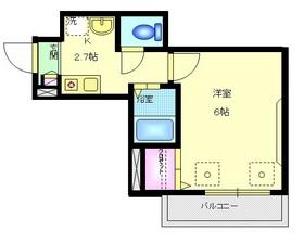 YSコーポ4階Fの間取り画像