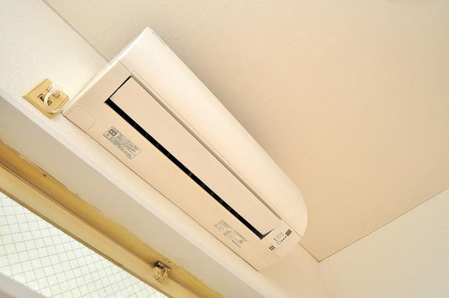 レオパレス布施  エアコンが最初からついているなんて、本当に助かりますね。