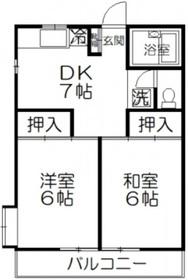 下赤塚駅 徒歩12分2階Fの間取り画像